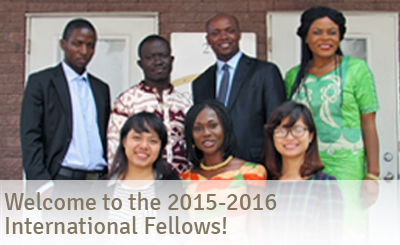 Welcome 2015-2016 International Fellows