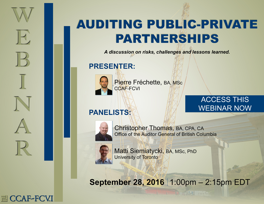Auditing Public-Private Partnerships