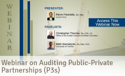 Webinar on Auditing Public-Private Partnerships (P3s)