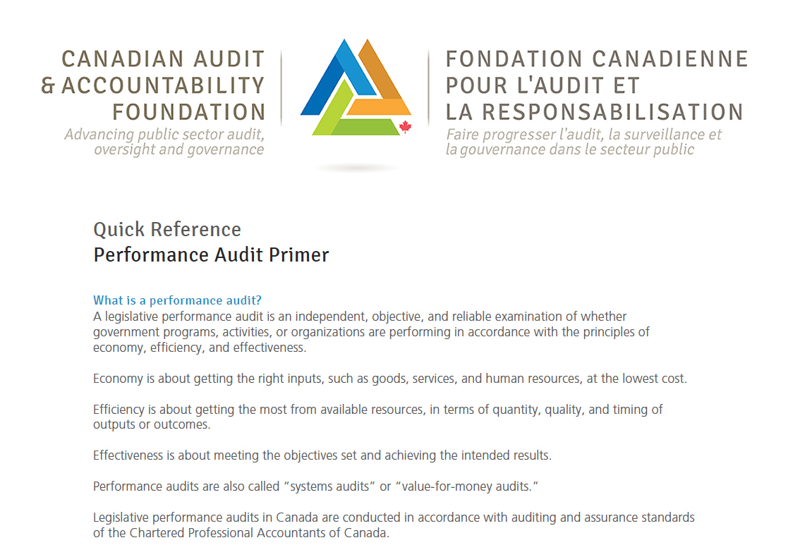 Performance Audit Primer